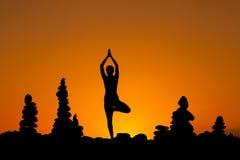 Sessão oriental da ioga em Tenerife Fotos de Stock Royalty Free