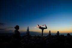 Sessão oriental da ioga em Tenerife Imagem de Stock