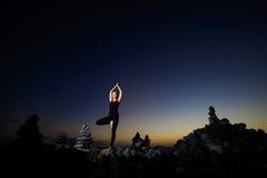 Sessão oriental da ioga em Tenerife Fotografia de Stock Royalty Free