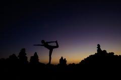 Sessão oriental da ioga em Tenerife Imagem de Stock Royalty Free