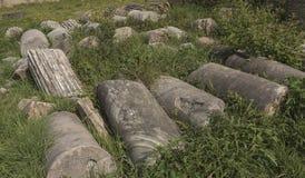 Sessa Aurunca, Italia, 3 de abril 2016 Vista del SE romano antiguo Fotos de archivo libres de regalías