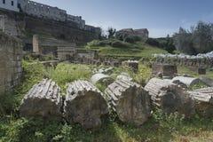 Sessa Aurunca, Italia, 3 de abril 2016 Vista del SE romano antiguo Imagenes de archivo