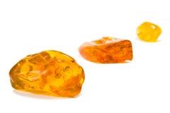 Sessanta milione anni dell'ambra baltica Fotografie Stock