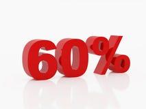 Sessanta per cento di colore rosso Fotografia Stock Libera da Diritti