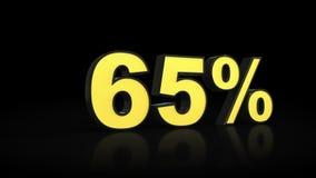 Sessenta e cinco rendição dos por cento 3D de 65% Fotos de Stock