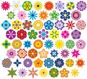 Sessenta flores fabulosas ilustração royalty free