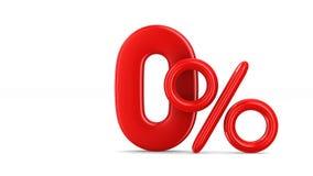 Sessenta por cento no fundo branco 3D isolado ilustração stock