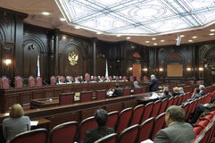 Session of the Constitutional court  RF. Work of the Constitutional court of the Russian Federation Stock Images