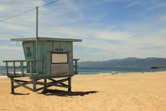 Session froide de plage en plage de Venise Image stock