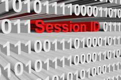 Session ID. In the form of binary code, 3D illustration stock illustration
