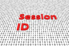 Session ID. In the form of binary code, 3D illustration vector illustration