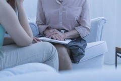 Session with the psychiatrist Stock Photography