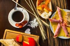 Session saine de nourriture dans la maison images stock