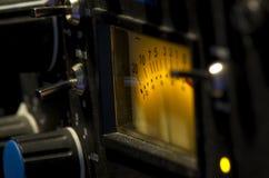 Sessione del colpo agli audio dispositivi fotografia stock libera da diritti