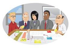 Sessione di 'brainstorming' degli impiegati di ufficio Fotografia Stock Libera da Diritti