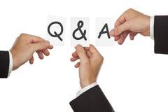 Sessione di Q&A Fotografia Stock