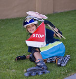 Sessione di Rollerblading di pomeriggio Fotografia Stock