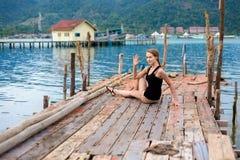 Sessione di yoga di estate in Tailandia Immagine Stock Libera da Diritti