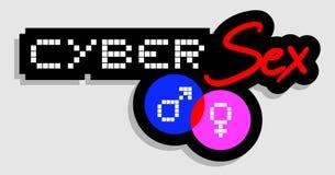 Sesso cyber Immagini Stock
