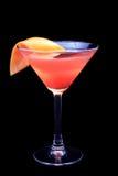 Sesso del cocktail sulla spiaggia su un fondo nero immagine stock