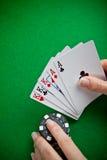 Sessão do póquer Fotos de Stock Royalty Free