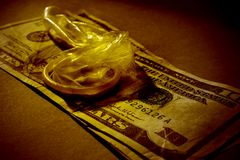 Sesso e soldi Fotografia Stock