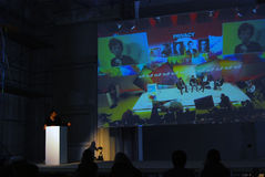 Sesta Mosca Biennale di arte contemporanea Immagine Stock