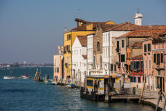 Sestiere Cannaregio在威尼斯,意大利 库存照片