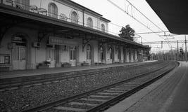 Sesto Calende Railway Station Fotografia Stock Libera da Diritti
