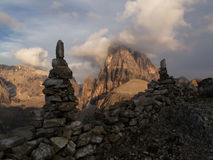 The Sesto Dolomites in the evening Stock Photography