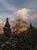 The Sesto Dolomites in the evening Royalty Free Stock Photo