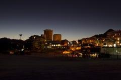 Sestrières par nuit à l'heure bleue Photo libre de droits