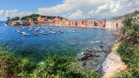 Sestri Levante-Bucht stock video footage