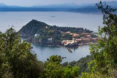 Sestri Levante, genua, Włochy fotografia royalty free
