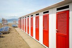 Sestri Levante, Liguria: Nadmorski z plażowym Baia delle Favole - zatoka bajki, Włochy Obraz Royalty Free