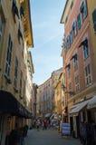 Sestri Levante-Straße Lizenzfreie Stockbilder