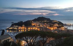 Sestri Levante sunset stock photos