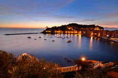 Sestri Levante at sunset. Liguria, Italy Stock Images