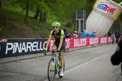 Sestriere, Italy 30 May  2015; Davide Formolo tackles the last climb before arrival. Stock Photography
