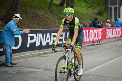 Sestriere, Italy 30 May  2015; Davide Formolo tackles the last climb before arrival. Royalty Free Stock Photo