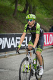 Sestriere, Italy 30 May  2015; Davide Formolo tackles the last climb before arrival. Royalty Free Stock Photography