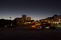 Sestriere by night at blu hour Royalty Free Stock Photo
