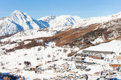 Sestriere village - famous ski resort in Piedmont Royalty Free Stock Photos