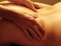 sesual massage 2 Royaltyfria Bilder