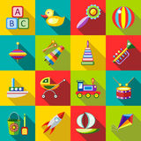 Setów dzieciaków zabawki Obrazy Royalty Free