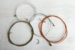 Setów sznurki dla gitary zdjęcie stock