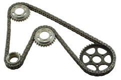 Set łańcuchy z przekładniami Zdjęcie Stock