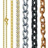 Set łańcuchy. Obrazy Stock