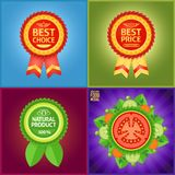 Set ładne etykietki zaznaczać produkt cechy Obrazy Royalty Free