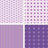Set ładni prości wzory Obrazy Royalty Free